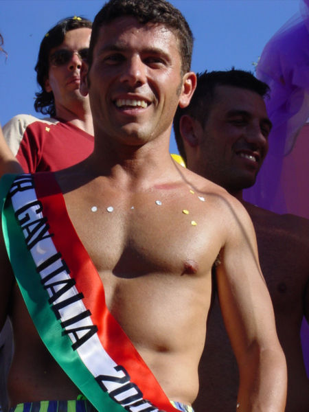 450px Mister Gay Italia al Gay Pride di Bari 2003 Dwight Meme   Safe sex iS great sex so wear your latex False. There is